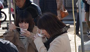 新春「ぜんざい振舞い」 写真