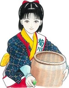 静岡県菊川市の茶娘が試飲・販売を行います!! 写真